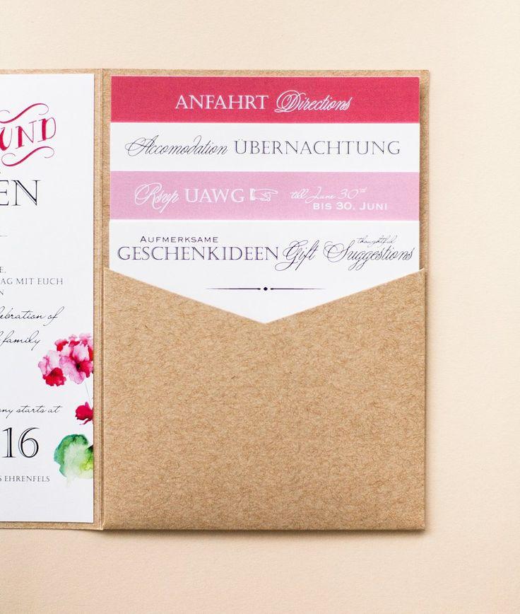 Dieses Papeterie Set Umfasst Folgende Designs: U2013 Pocketeinladung Mit Vier  Einsteckkarten Und Rundem Anhänger Mit Initialen U2013 Menükarte Hochkant, ...