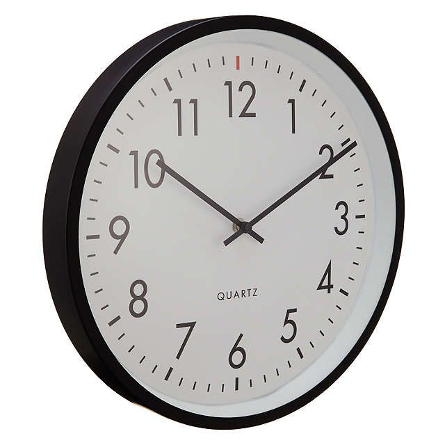 BuyHouse By John Lewis Metal Wall Clock Black Online At Johnlewis