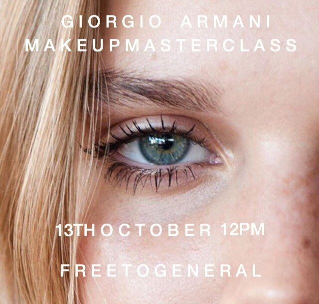 This Friday I'll be in Melbourne hosting a mini MAKEUP MASTERCLASS at Myer Melbourne with Giorgio Armani.  I will be teaching current trends and tips and tricks of the trade. As I know some of you have had interest in our masterclass' in the past I wanted to do something small that was easily accessible for everybody -  will kick off at 12pm it is also free to the public so I would love to see you all there thanks GA for allowing me to do what I love xxxx