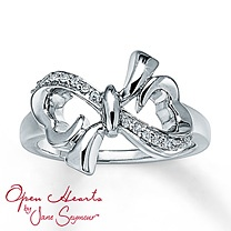 Open Hearts by Jane Seymour® Diamond Bow Ring. i've wanted this so bad for so long. I NEED IT !