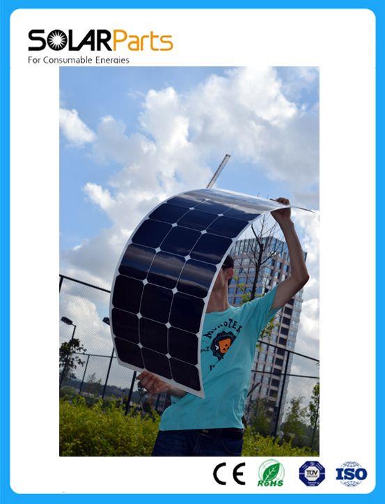 Pas cher Solarparts 1 PCS 100 W flexible panneau solaire 12 V cellule solaire/module/système RV/voiture/marine/bateau batterie chargeur LED Solaire lumière kit., Acheter  Cellules photovoltaïques, panneaux solaires de qualité directement des fournisseurs de Chine:Solarparts 1 PCS 100 W flexible panneau solaire 12 V cellule solaire/module/système RV/voiture/marine/bateau batterie chargeur LED Solaire lumière kit.