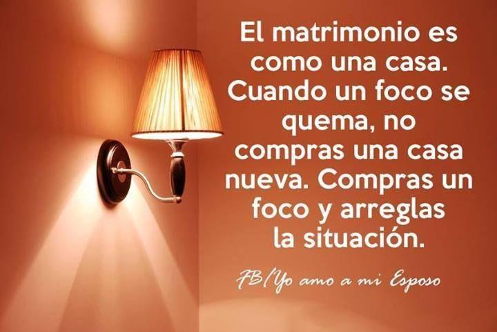 Huir de casa no debería ser la opción para tu cónyuge, sino quedarse a arreglar la situación. #matrimonio