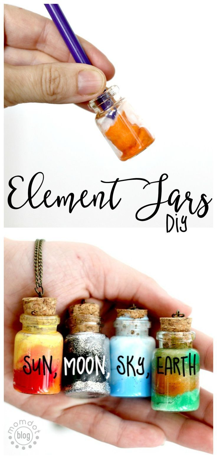 DIY kleine Flaschen mit den Elementen - Geschenke - Mitbringsel - Basteln