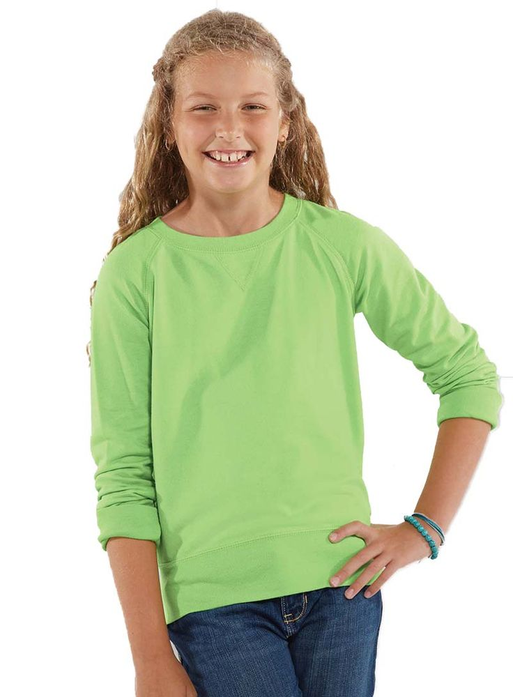 Girls Slouchy Pullover LAT Apparel