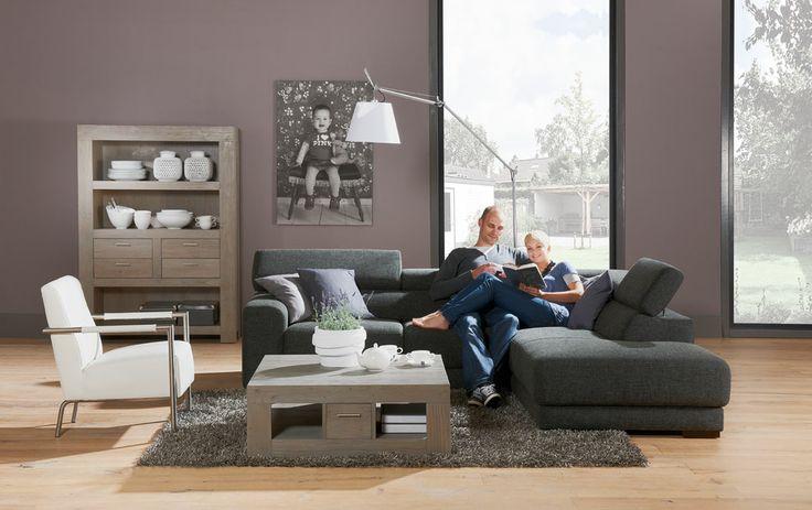 hoekbank Nora - heerlijke grote hoekbank in kleur antraciet, een tijdloze toevoeging voor je woonkamer - #Goossens wonen & slapen