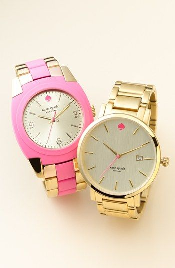 Pink and gold! kate spade new york watches