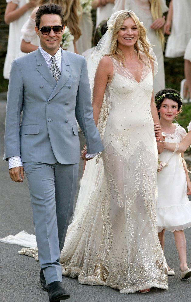 kate-moss-wedding-dress - Read more on One Fab Day: http://onefabday.com/kate-moss-wedding-dress/