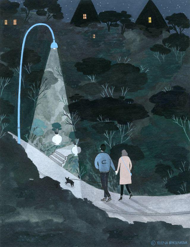 night walk - yelena bryksenkova