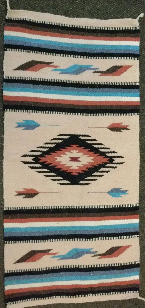 Native American Indian Blanket Rug on Etsy, $200.00