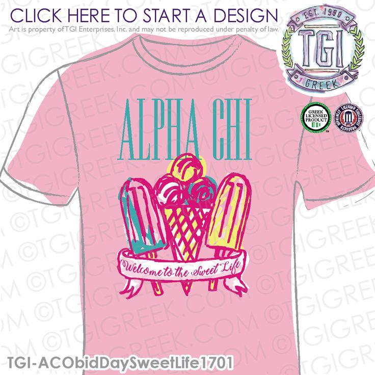 Alpha Chi Omega | A Chi O | ΑΧΩ | Bid Day | Bid Day Shirt | Sorority Bid Day | TGI Greek | Greek Apparel | Custom Apparel | Sorority Tee Shirts | Sorority T-shirts | Custom T-Shirts