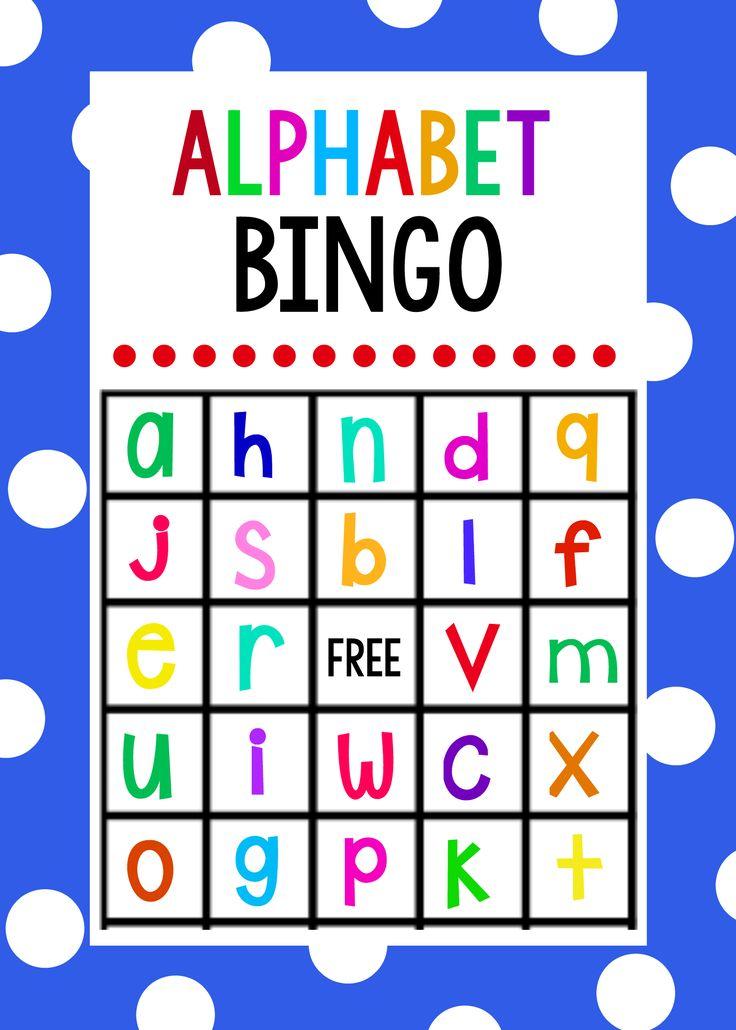 Lowercase Alphabet Bingo