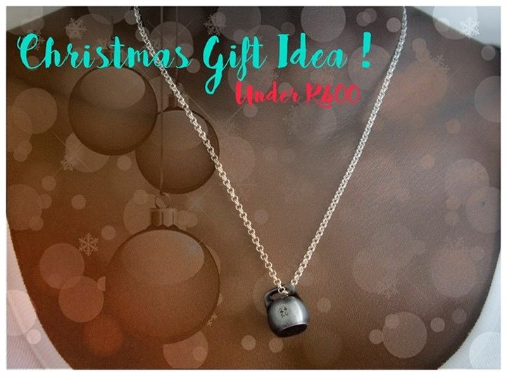 Rustic Black Kettlebell and Silver Chain - 50cm   #Jinxibell #ChristmassGiftIdea
