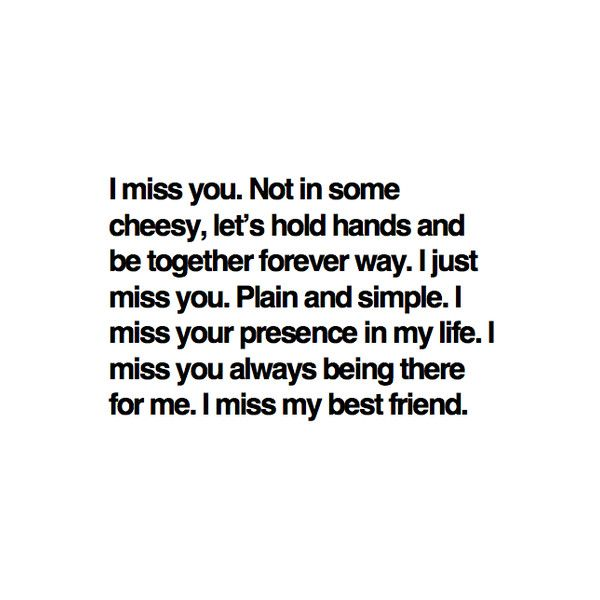 Yeah I miss you but you really hurt me. Im sorry i couldnt be there but my kids and marriage had to be first. I haven't said bad things about you nor do I wish you misery. But believe what you want . I'm fixing my life and I'm happy and I wish the best for you. And that's all I have left to say.