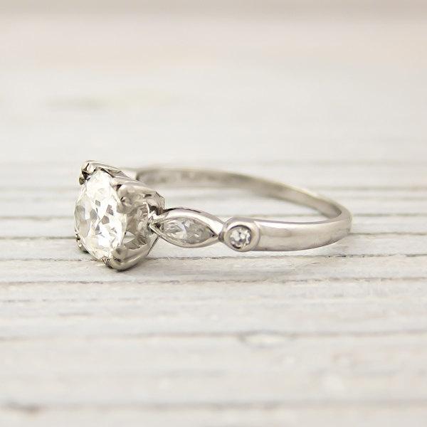 Vintage 1.06 Carat Old European Cut Diamond Engagement Ring