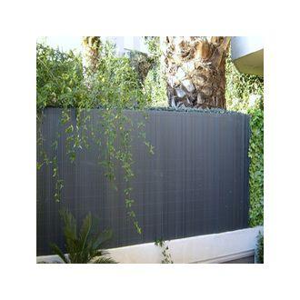 Canisse PVC anthracite 1.5 X 3 m 21 metres lineaire - Jardin, piscine