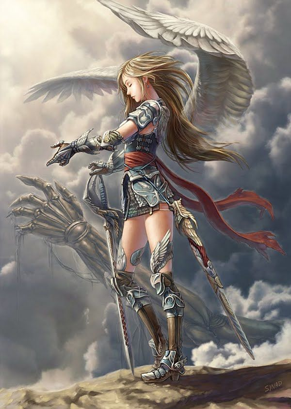 Image Detail for - Angel Knight Of The Rune by Sinad Jaruartjanapat
