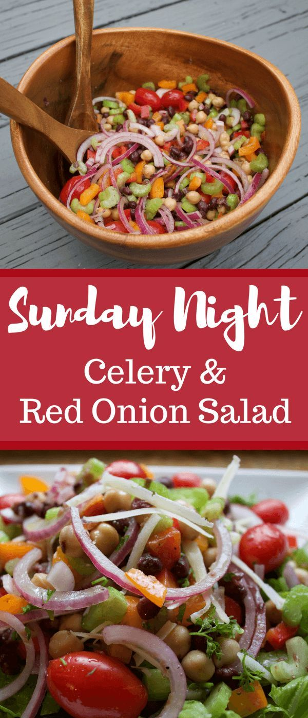 Sunday Night Celery And Red Onion Salad The Produce Mom Recipe Celery Recipes Onion Salad Healthy Recipes