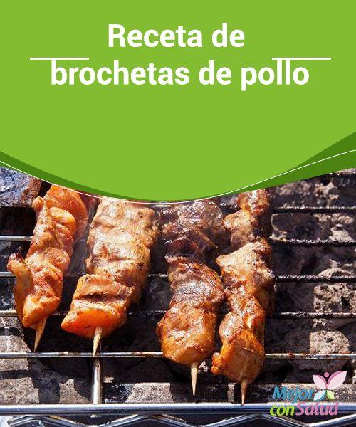 Receta de brochetas de pollo  Ahora que llega la navidad hay que buscar platos ricos, elaborados pero que sean bajos en Kilocalorías para no engordar más de la cuenta,