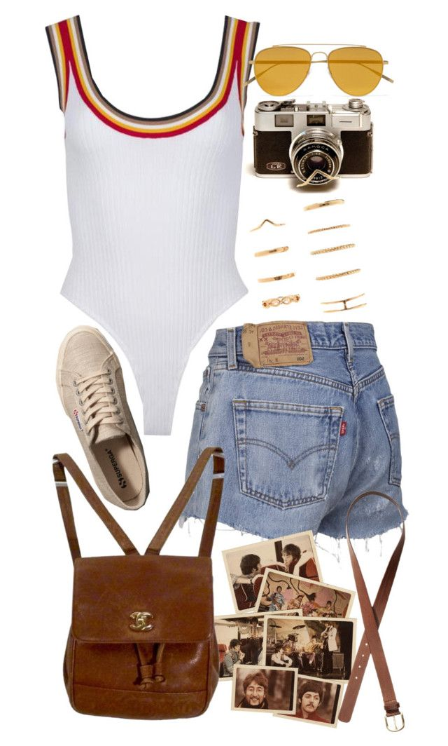 """Untitled #10712"" by nikka-phillips ❤ liked on Polyvore featuring Forever 21, Tomas Maier, Chanel, H&M and Abercrombie & Fitch"