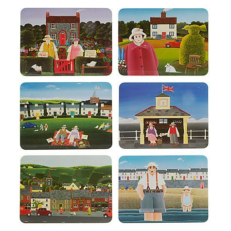 I like these because they will encourage us to keep telling stories whilst we eat together.   Buy Jason Products Rural Dreams Placemats, Set of 6 Online at johnlewis.com