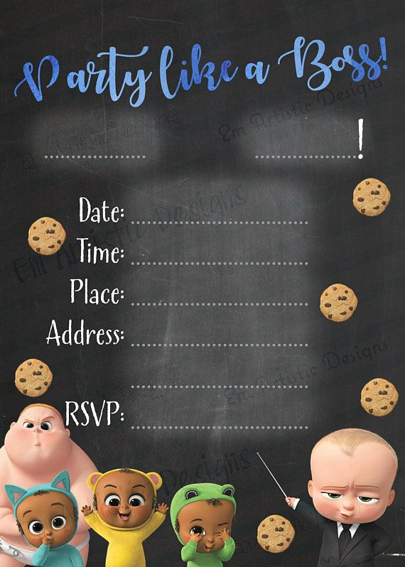 Instant Download Boss Baby Inspired Fill In The Blank By Hand Or Edit The Pdf Printable Birt Baby Birthday Party Baby Birthday Themes Baby Birthday Party Boy