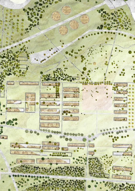 STUDENT PROJECT | In Between Layer of History and Optional Remembrance | Anca-Elena Panait #plan #landscape #architecture