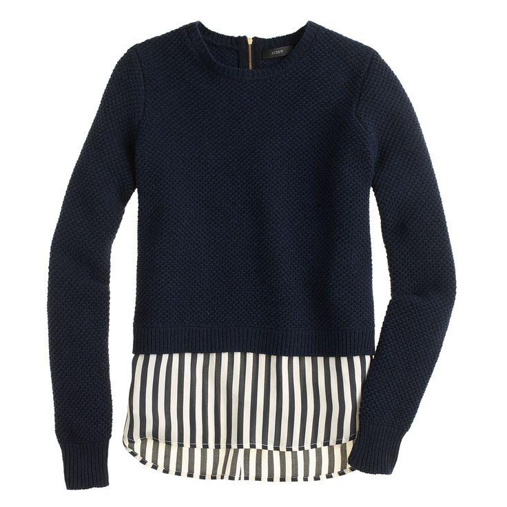 Lambswool Shirttail in Stripe