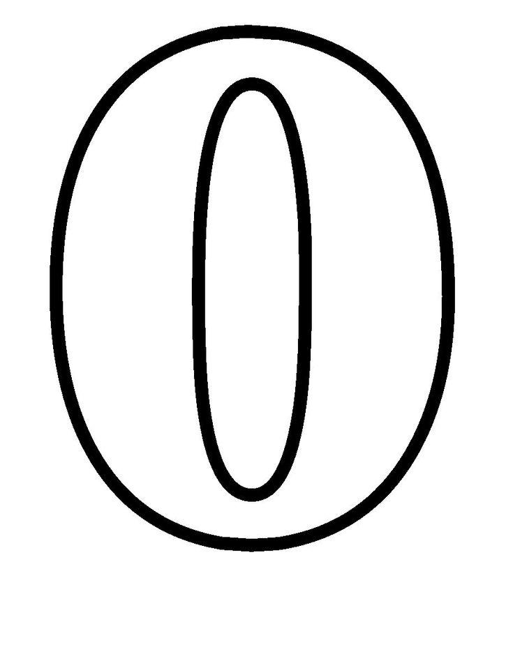 Zero Coloring Page Simple Numbers Zero | ...