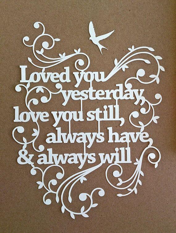 TEMPLATE 'Love you still' Papercut Design door TommyandTillyDesign