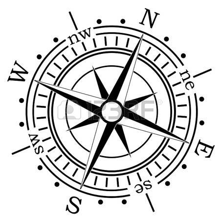boussole compas illustration tatouage ilustraciones. Black Bedroom Furniture Sets. Home Design Ideas