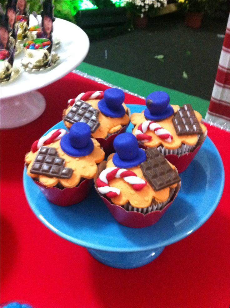 Cupcake festa Fantastica Fabrica de Chocolates#festafantasticafabaricadechocolate