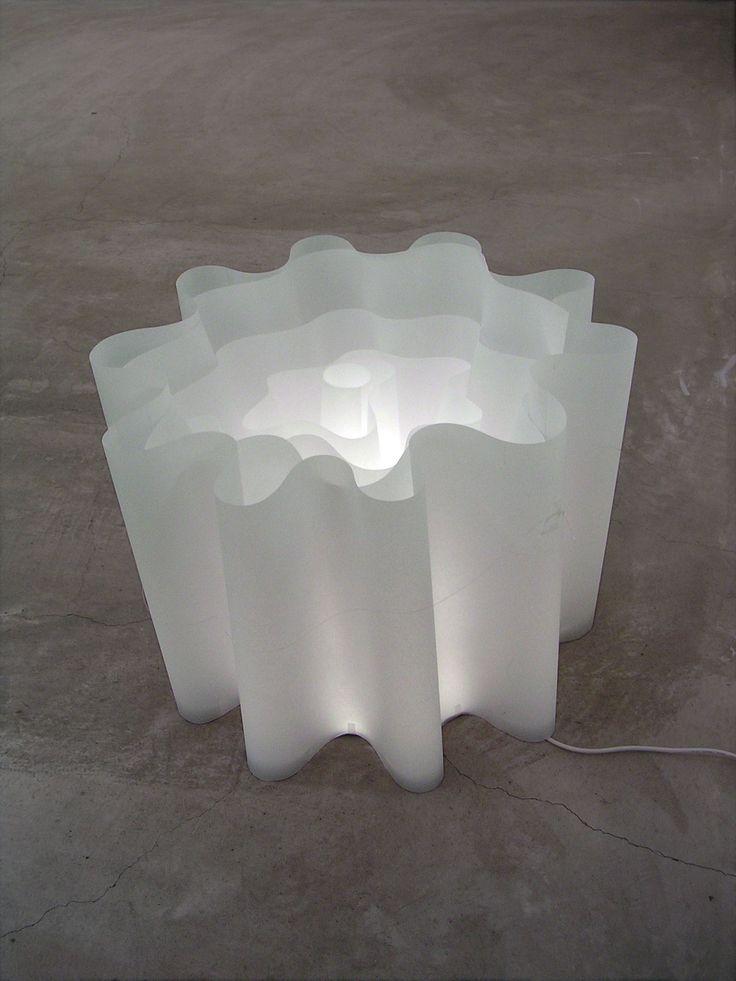『光ノ射ス方ヘ』 トレーシングペーパー・LEDライト 室内の照明を付けたとき