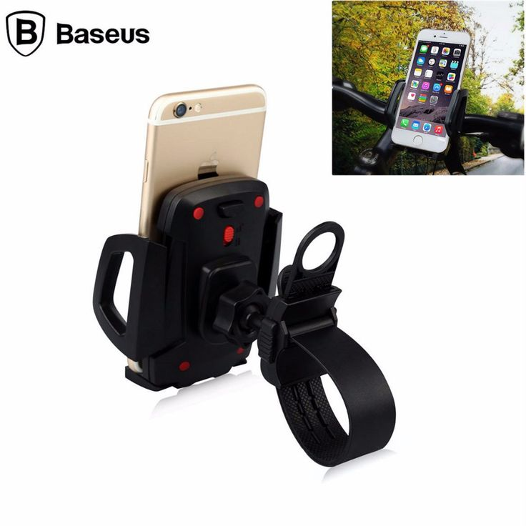 Baseus Bicycle Bike Phone Holder Stand Bracket 360 Degree Rotation Universal Holders For iPhone SE 5S 6 6S 7 Plus Smartphone GPS