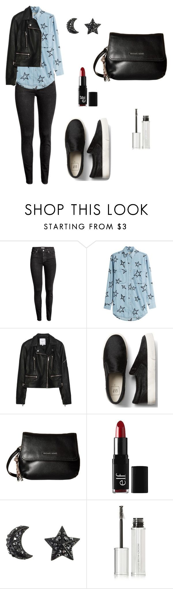 """""""Untitled #390"""" by mariafilomena471 ❤ liked on Polyvore featuring H&M, Être Cécile, Zara, MICHAEL Michael Kors, e.l.f. and Givenchy"""