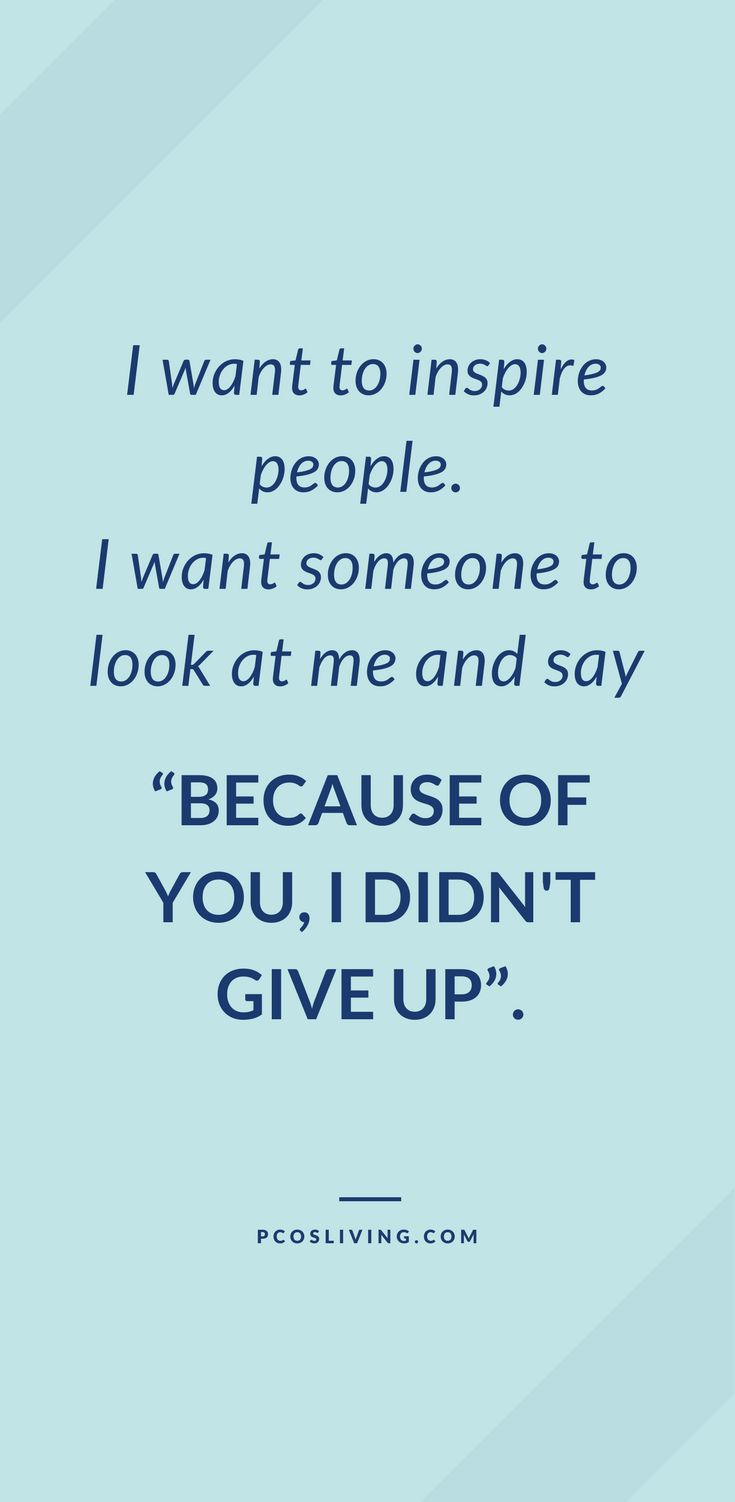 Don't give up! // Inspirational Quotes // Quotes about success // Keep going! // Motivate & Inspire | PCOSLiving.com