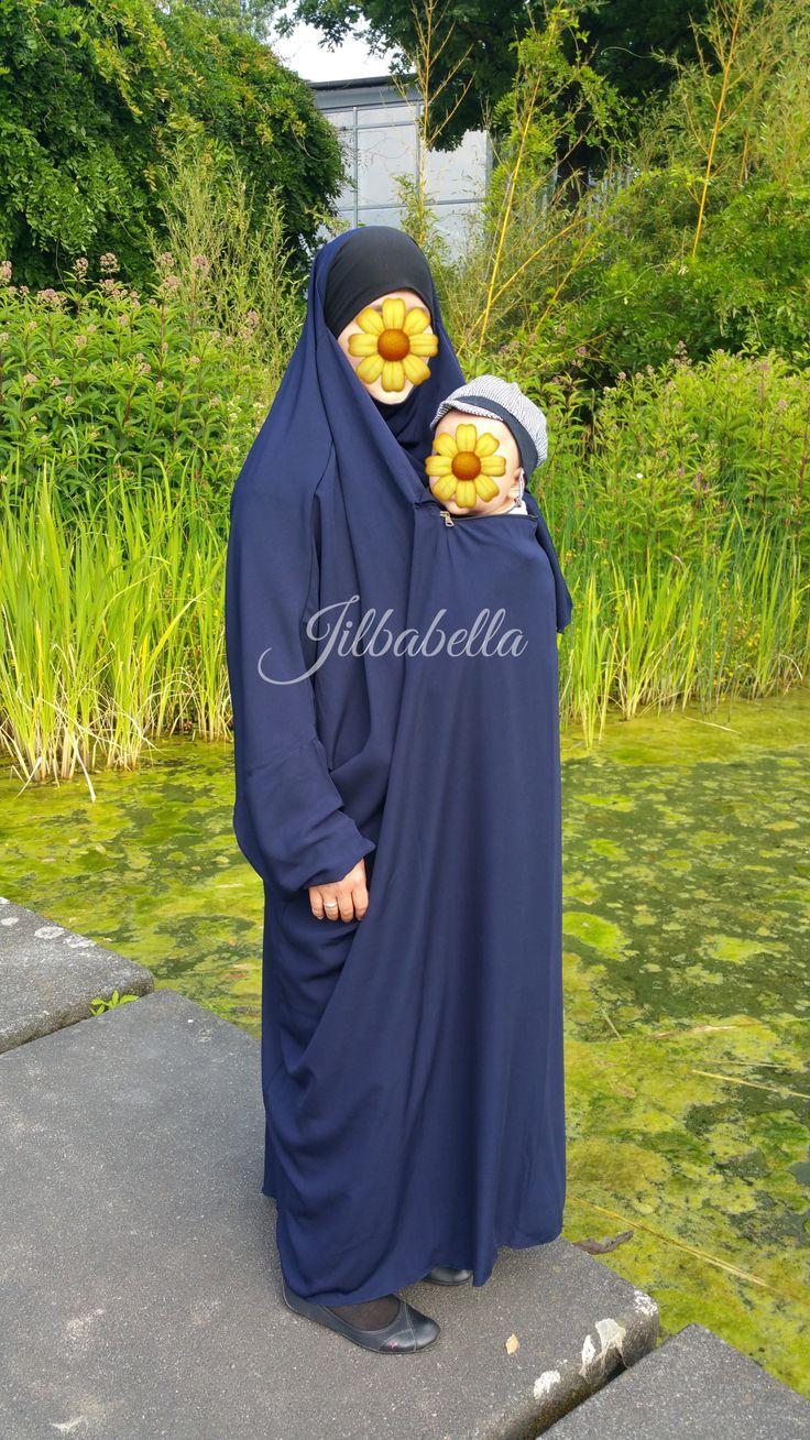 Jilbab de portage, s'utilise avec un porte bébé ou une écharpe de portage