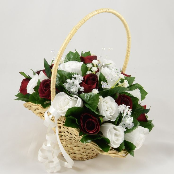 Flower Girl Baskets On Pinterest : Best images about burgundy wedding theme on