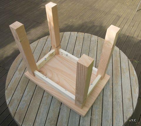 Fabriquer un tabouret en palette faire neuf avec du vieux tabouret bois chaise bureau - Table basse vieux bois ...