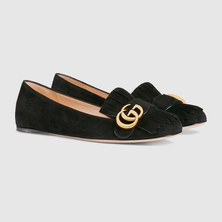 Suede ballet flat - Gucci Women's Ballerina Flats 453373C20001000