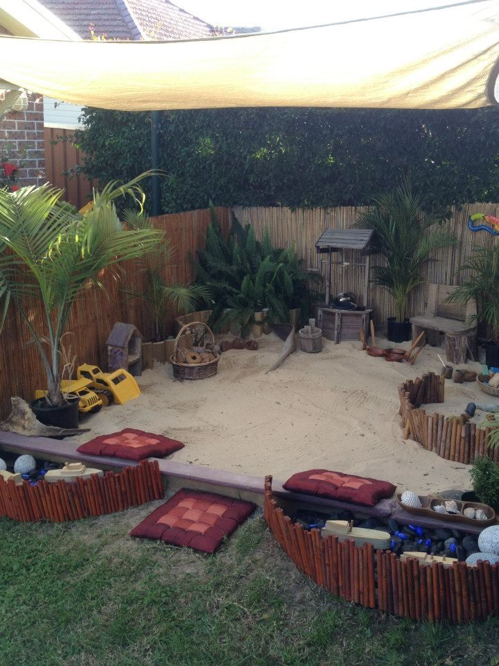 Beautiful sandpit at Puzzles Family Day Care. For more inspiring spaces: pinterest.com/... ≈ ≈