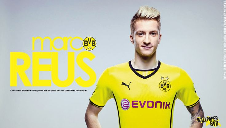 Marco Reus is famous because he play soccer. This is my idol Marco Reus, as you can se he plays in the soccer club Borussia Dortmund. He's my farvorite because we play on the same position, so before every game i play I have to see a video of him as an motivation.