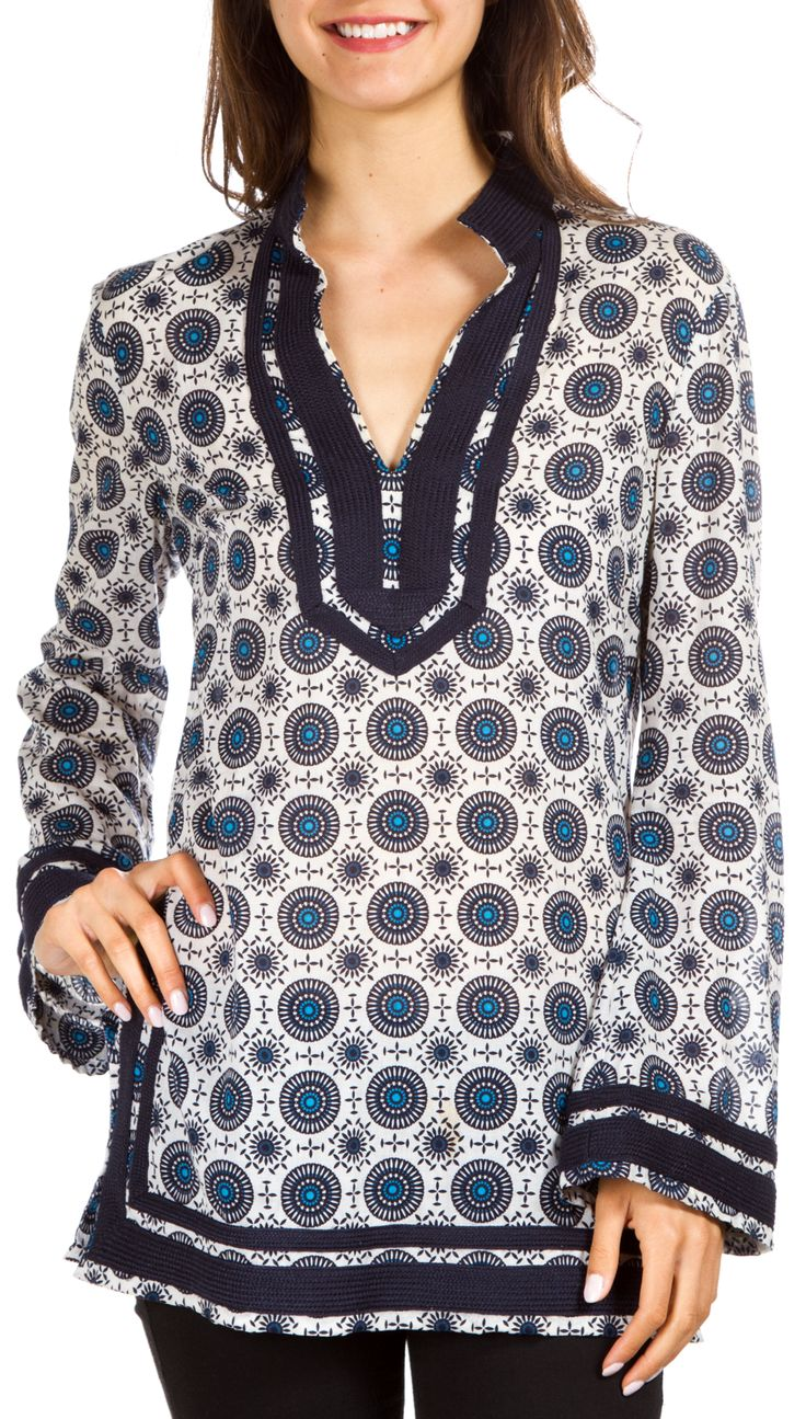 Tory Burch Tunic @Michelle Coleman-HERS