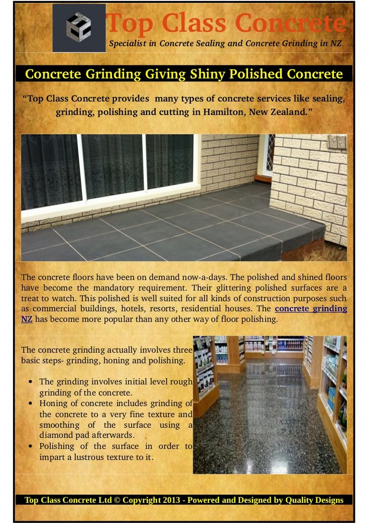 A term 'diamond pad' is mentioned above. #Concrete #grinding #NZ process calls for a kind of polishing pad used to polish the concrete floors. The diamond pads come with different names, prices and characteristics.