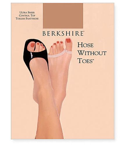 Berkshire hose without toes are our best selling hosiery. These panty hose are perfect for someone who likes to wear open toe shoes with hose.