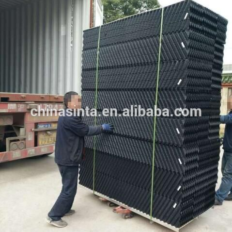 Evaporative cooler cooling tower fill types