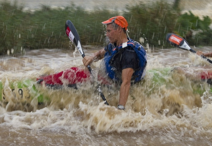 A paddler negotiates white water during the first day of the Dusi Canoe Marathon in Pietermaritzburg on Thursday. More than 1700 competitors take part in the annual 75-mile race which begins in Pietermaritzburg and ends in Durban.