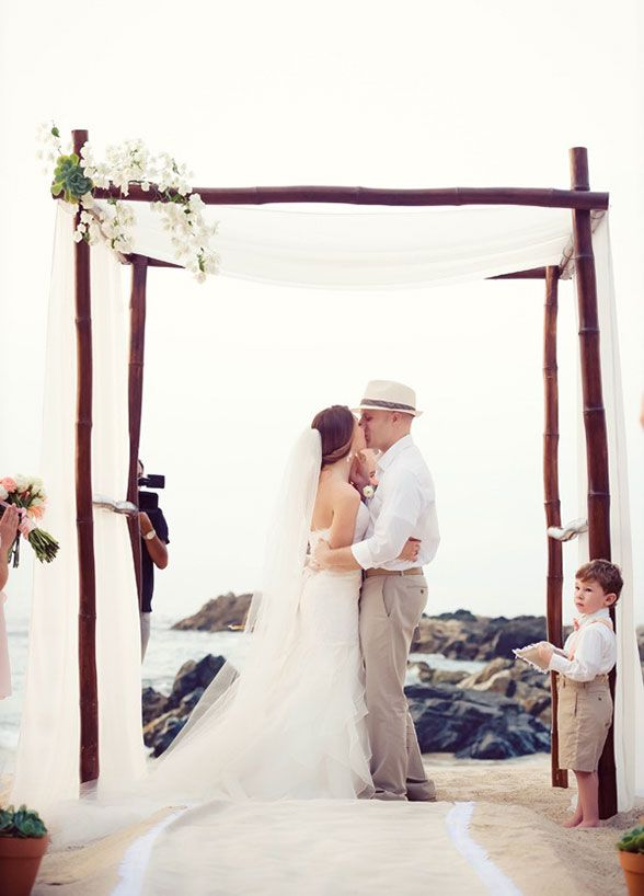 small beach wedding ceremony ideas%0A We are dreaming of the sand between our toes after admiring these beautiful beach  wedding ceremony ideas The post Chic Beach Wedding Ceremony Ideas appeared
