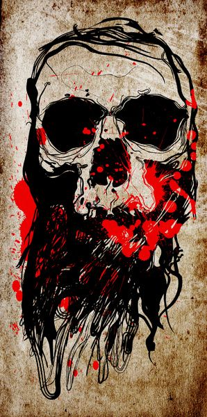 Blood Skull Art Print