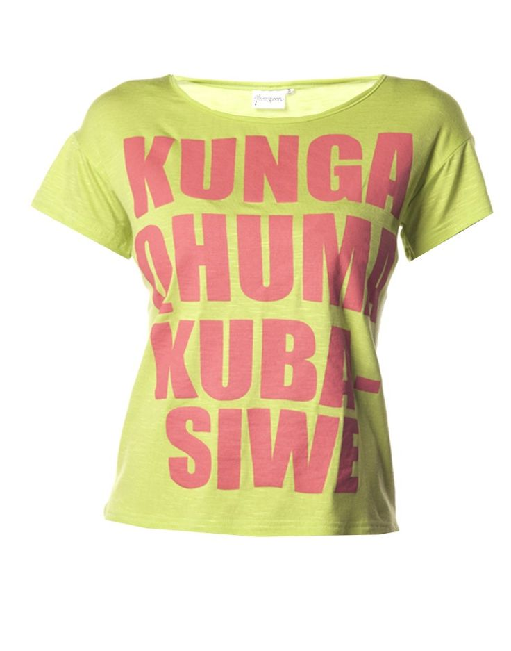 Slogan T-Shirt in Lime