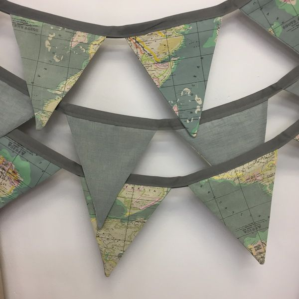 Vintage map bunting...so stunning.